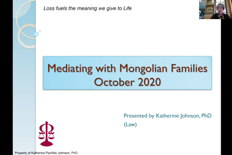 Mediating with Mongolian Families
